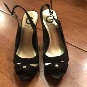 Guess by guess black platform shoes